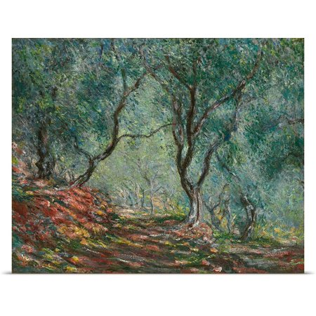 Great Big Canvas Claude Monet Poster Print Entitled Olive Trees In The Moreno Garden  1884