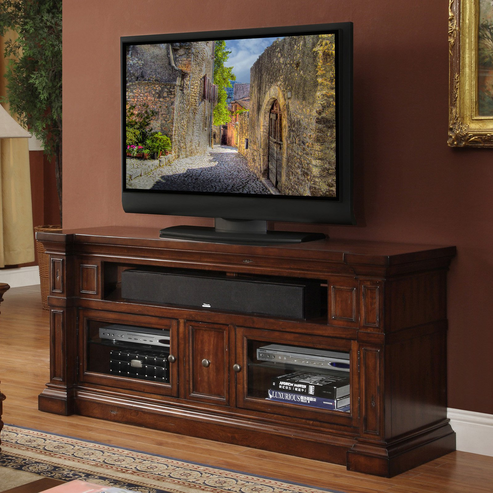 Legends Berkshire 62 in. Media Console - Old World Umber