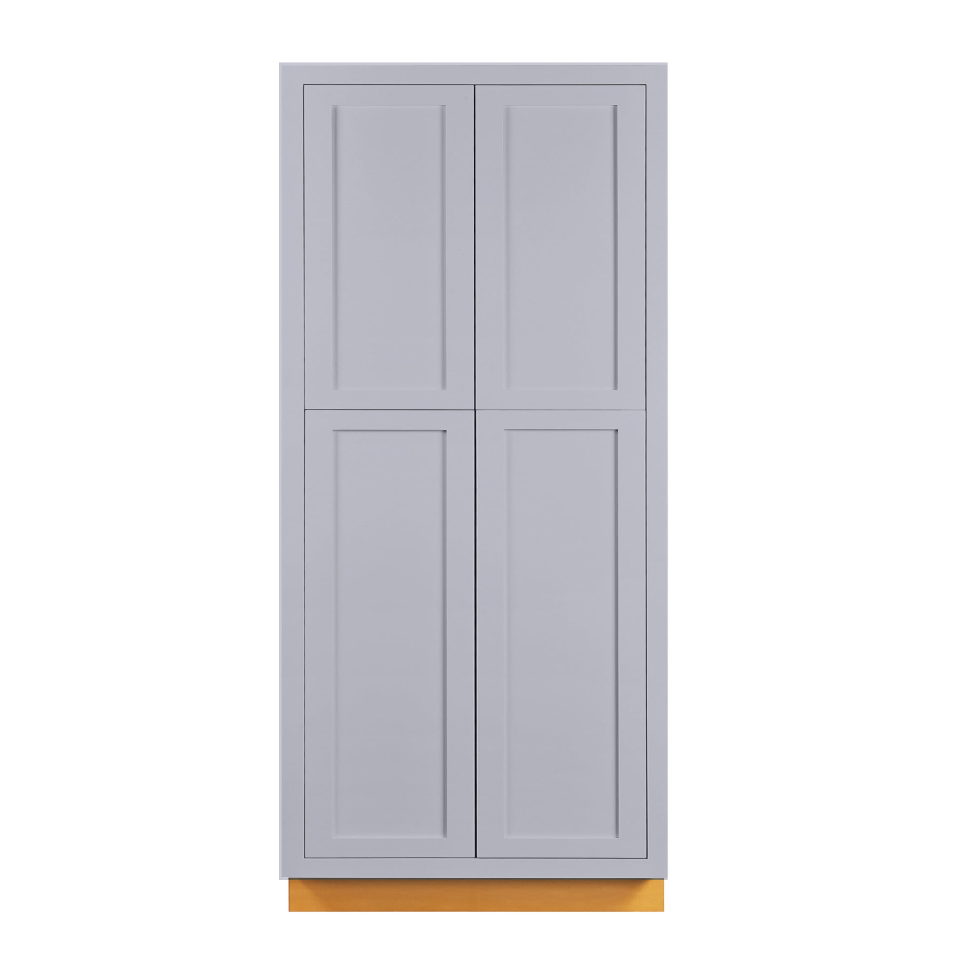 36 Wide 93 Tall Pantry Kitchen Cabinet Light Gray Inset Shaker Walmart Com Walmart Com