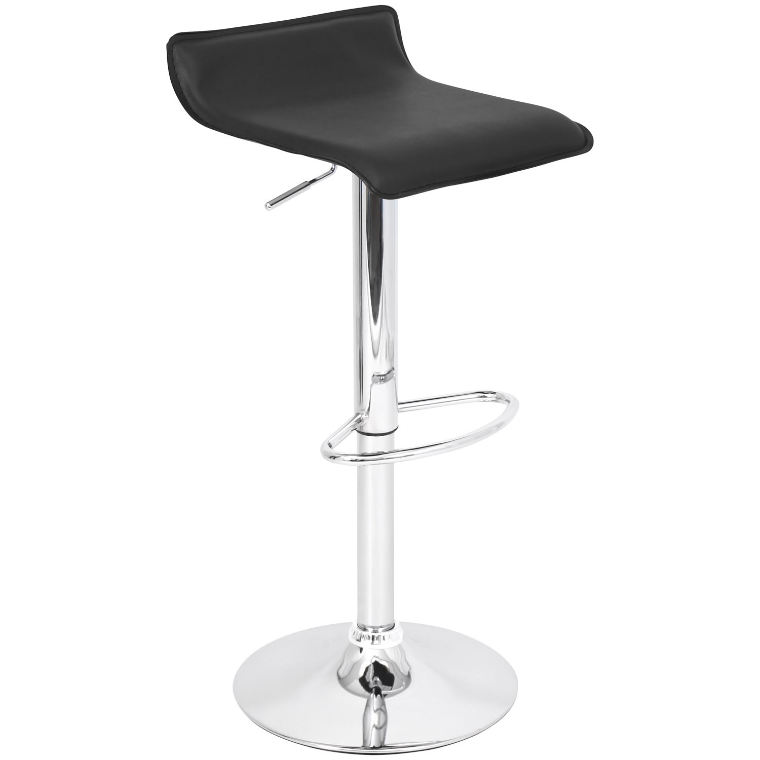 Lumisource Ale Black Hydraulic Bar Stool by Overstock