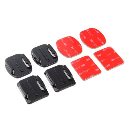 2 Pcs Flat Curved Surface Adhesive Mounts For Gopro Hero 3 3  4 Sport Camera New