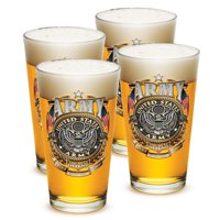 Pint Glasses � Armed Forces Gifts for Men or Women � Army Men American Beer Glassware � Army Gold Shield Beer Glasses...