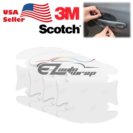 Genuine 3M Scotchguard Clear Door Handle Paint Scratch Protection Film Sticker Bra 4Pcs Set