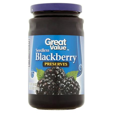 Great Value Blackberry Preserves  18 Oz