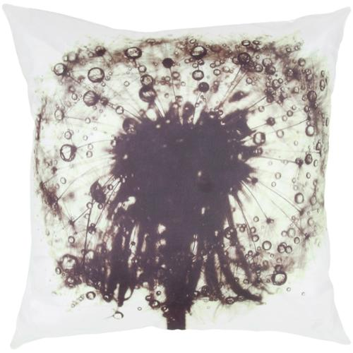 Room with a View White/ Purple Flower Burst Feather-filled Throw Pillow