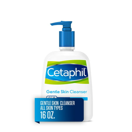 Cetaphil Gentle Skin Cleanser for All Skin Types, Face Wash for Sensitive Skin, 16 oz. Cleanser 16 Ounce Bottle