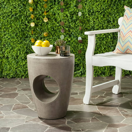 Aishi Indoor/Outdoor Concrete Round Accent Table