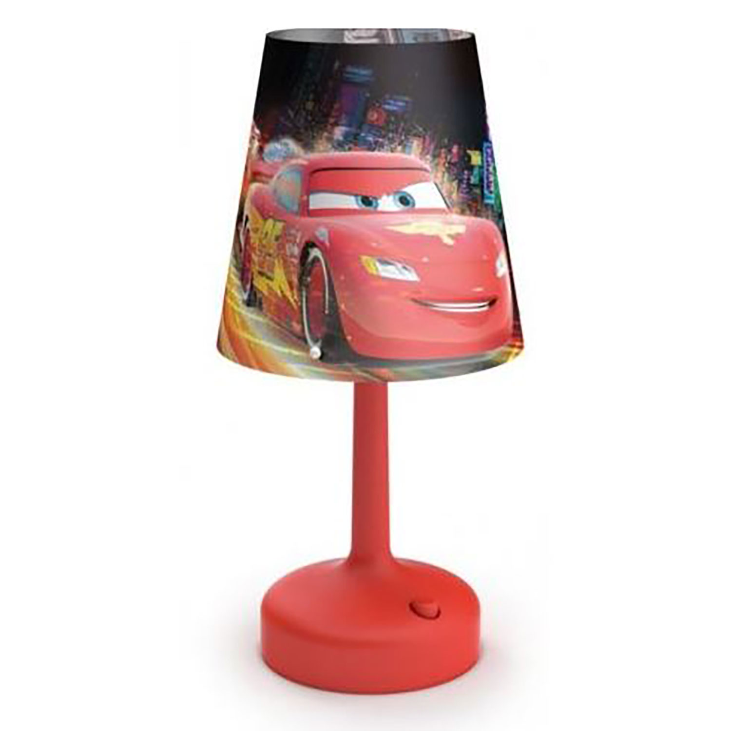 Philips Disney Cars Indoor Portable 10 Inch Kids Table Lamp with Shade,...