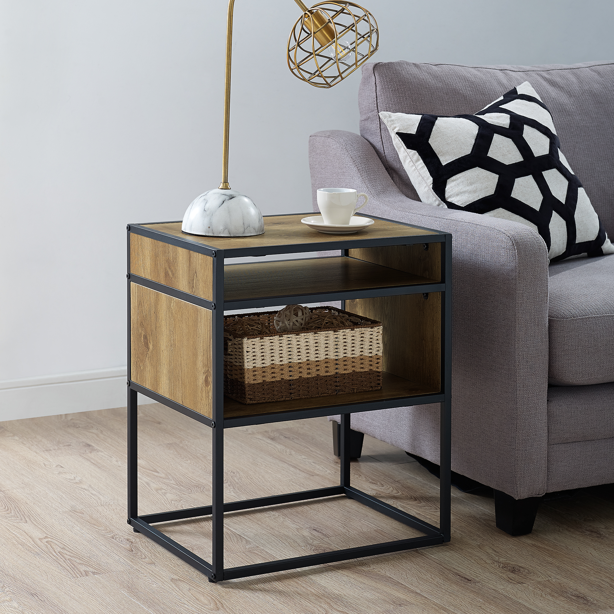 """Mainstays Atmore 20"""" Cube Side Table"""