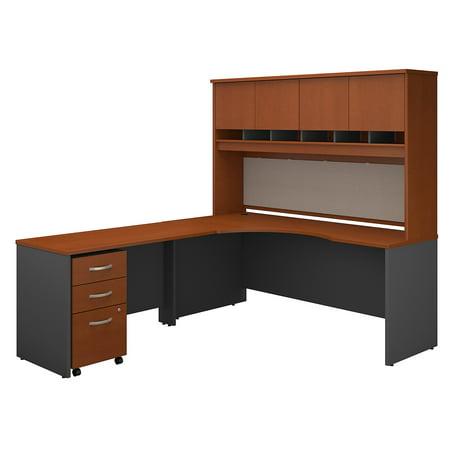 Left 72' U-shaped Desk (Series C Returns & Bundles 477 Lbs Weight Capacity Engineered Wood 72 W Left Hand Corner Desk with 48 W Return & Storage)