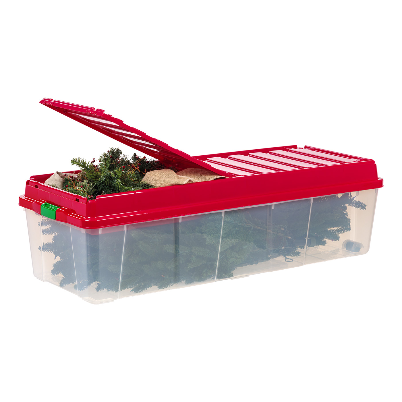 IRIS Holiday Tree Storage Tote With Compartment Lid, Red   Walmart.com