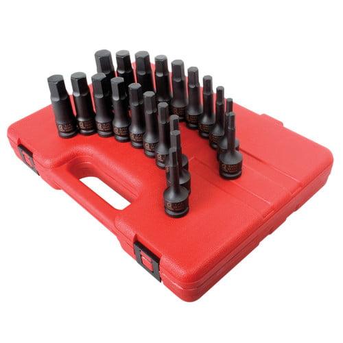 "Sunex Tools 2637 20pc 1/2"" Drive SAE/Metric Master Hex Impact Driver Set NEW"
