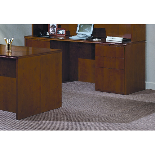 High Point Furniture Forte 72'' W Full Double Pedestal Computer Desk - 4 Box/ 2 File Drawers