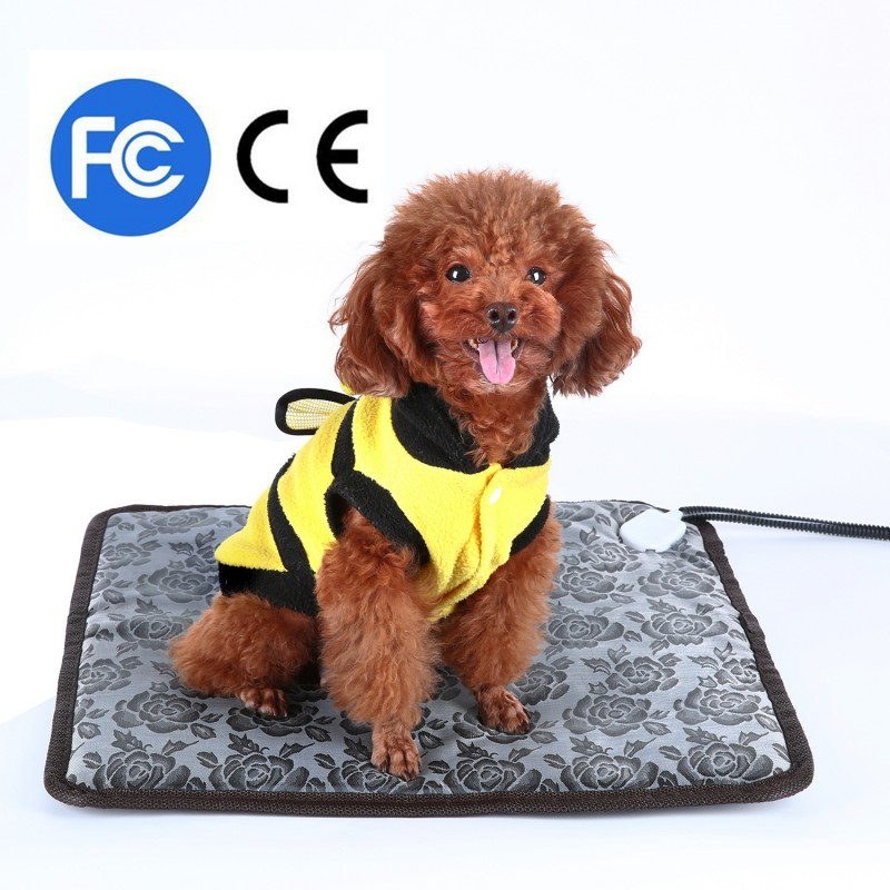 "Sawpy Waterproof Electric Heated Dog & Cat Pet Mat, Small, 18""x18"""
