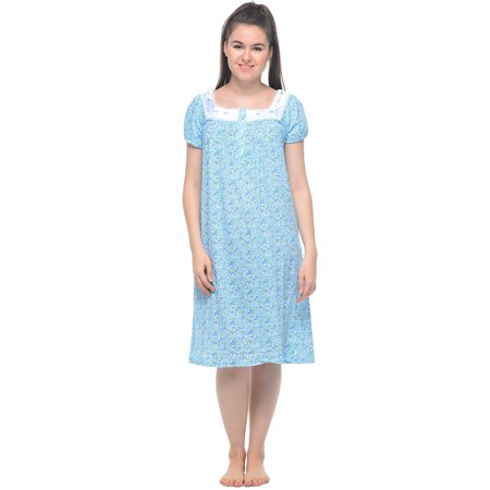 Casual Nights Women's Cap Sleeves Embroidered Floral Lace Nightgown