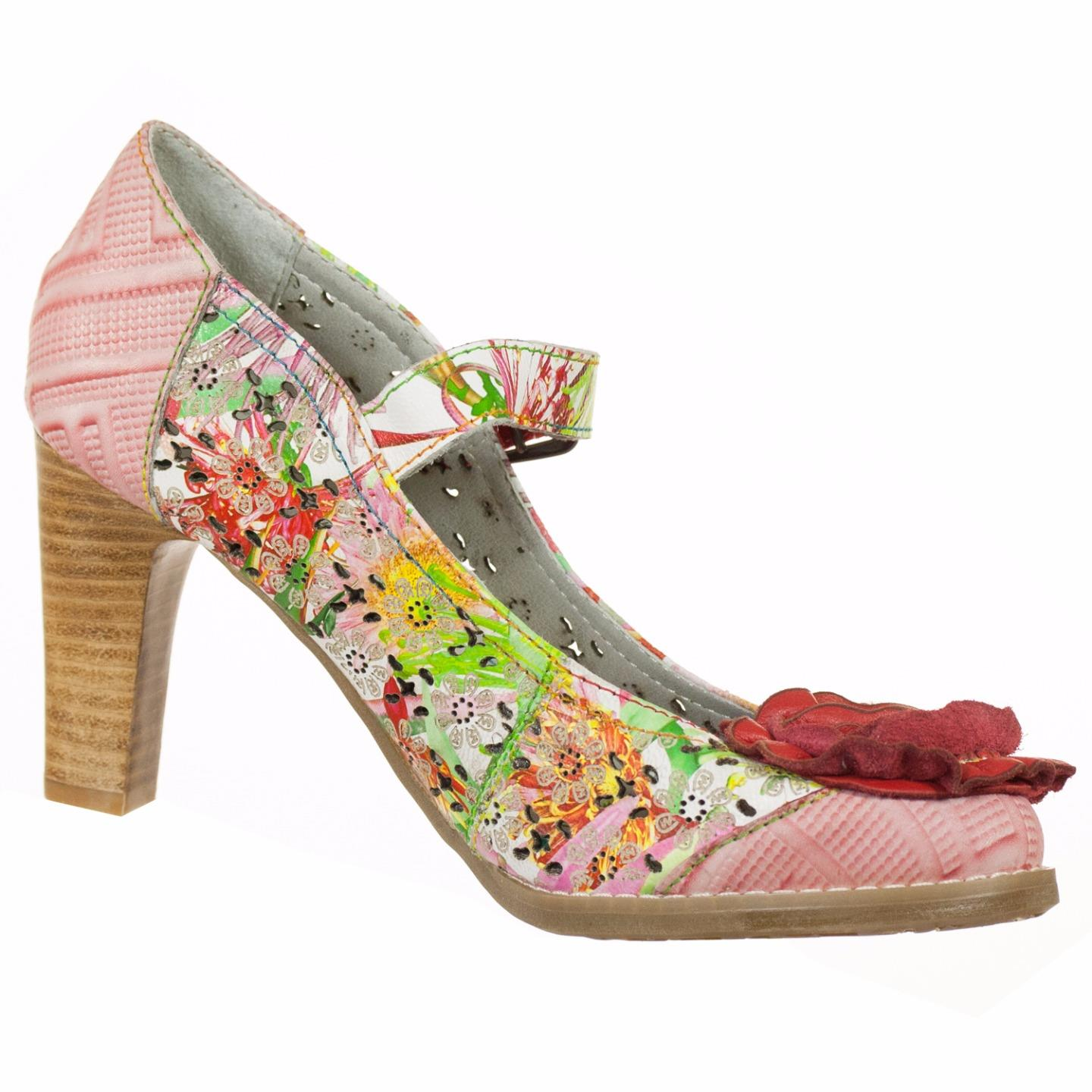 Spring Step L'Artiste Collection Cathy Women's Shoes Red Multi EU 37 US 7 by Spring Step