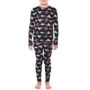 Climateright By Cuddl Duds Overall Printed Girls' Licensed Thermal Set