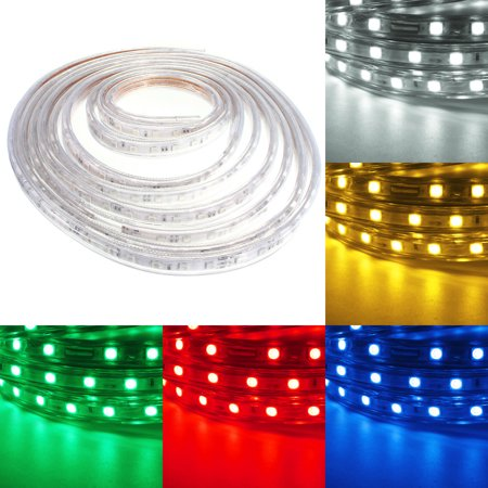 Waterproof 5m 5050 SMD 300LED Remote Control RGB LED Strip Flexible Tape Rope Light Lamp Outdoor Garden Party Wedding Christmas Lighting 110V/220V