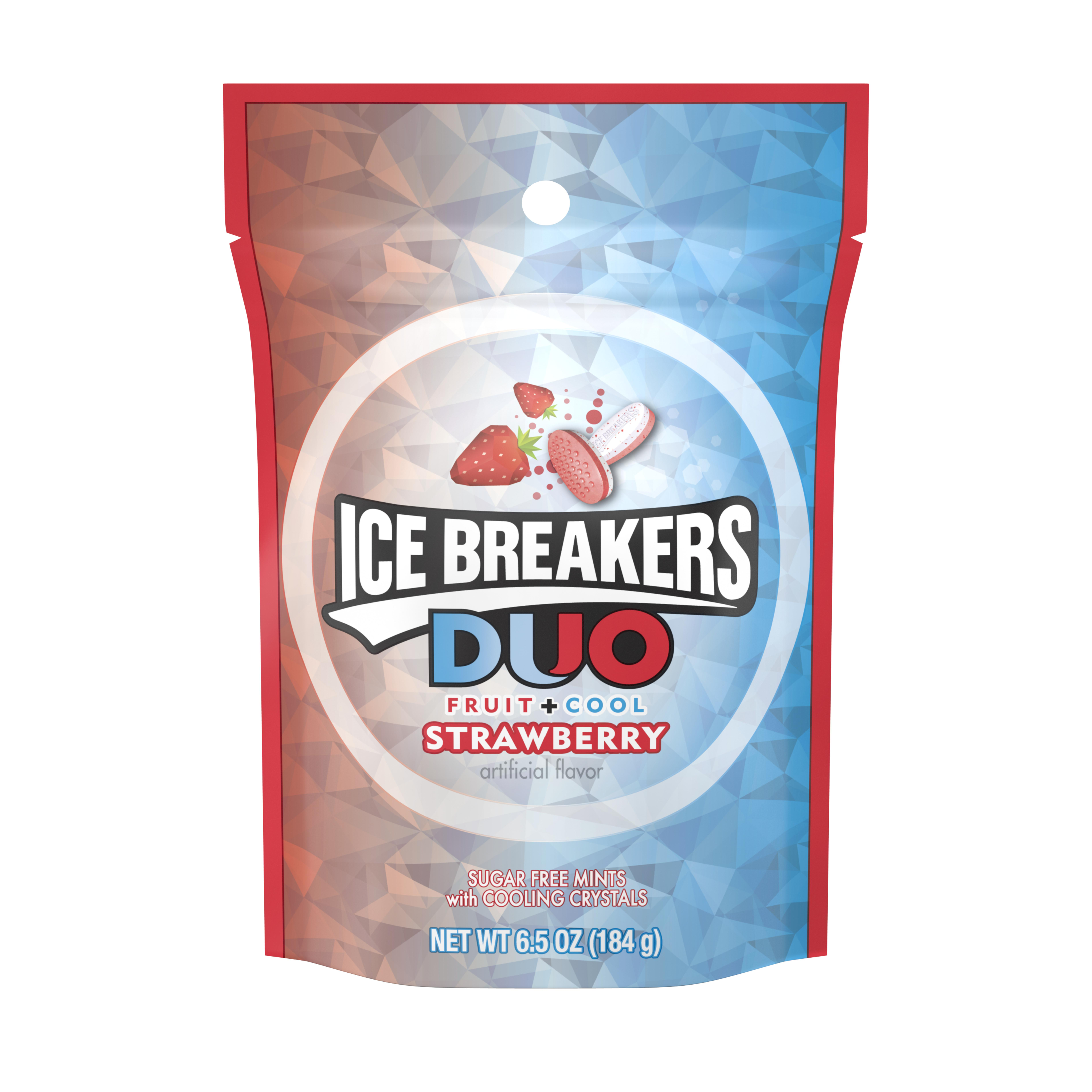 ICE BREAKERS Sugar-Free Duo Fruit & Cool Strawberry Mints, 6.5 Oz.