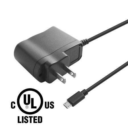 Insten Universal 5V 1A Micro USB Travel Home Wall AC Power Charger Adapter - Black