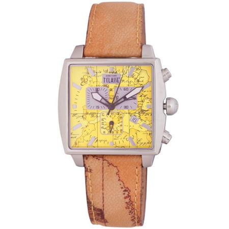 Prima Classe Mens Pch 912 Vu Chronograph Goe Design Leather Date Watch