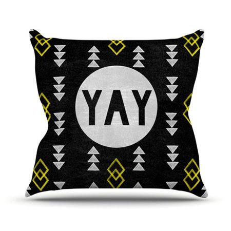 East Urban Home Yay Outdoor Throw Pillow