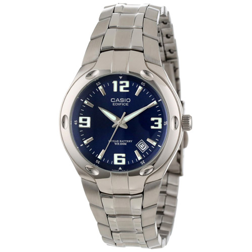 Men's Blue Dial, 10-Year Battery Watch