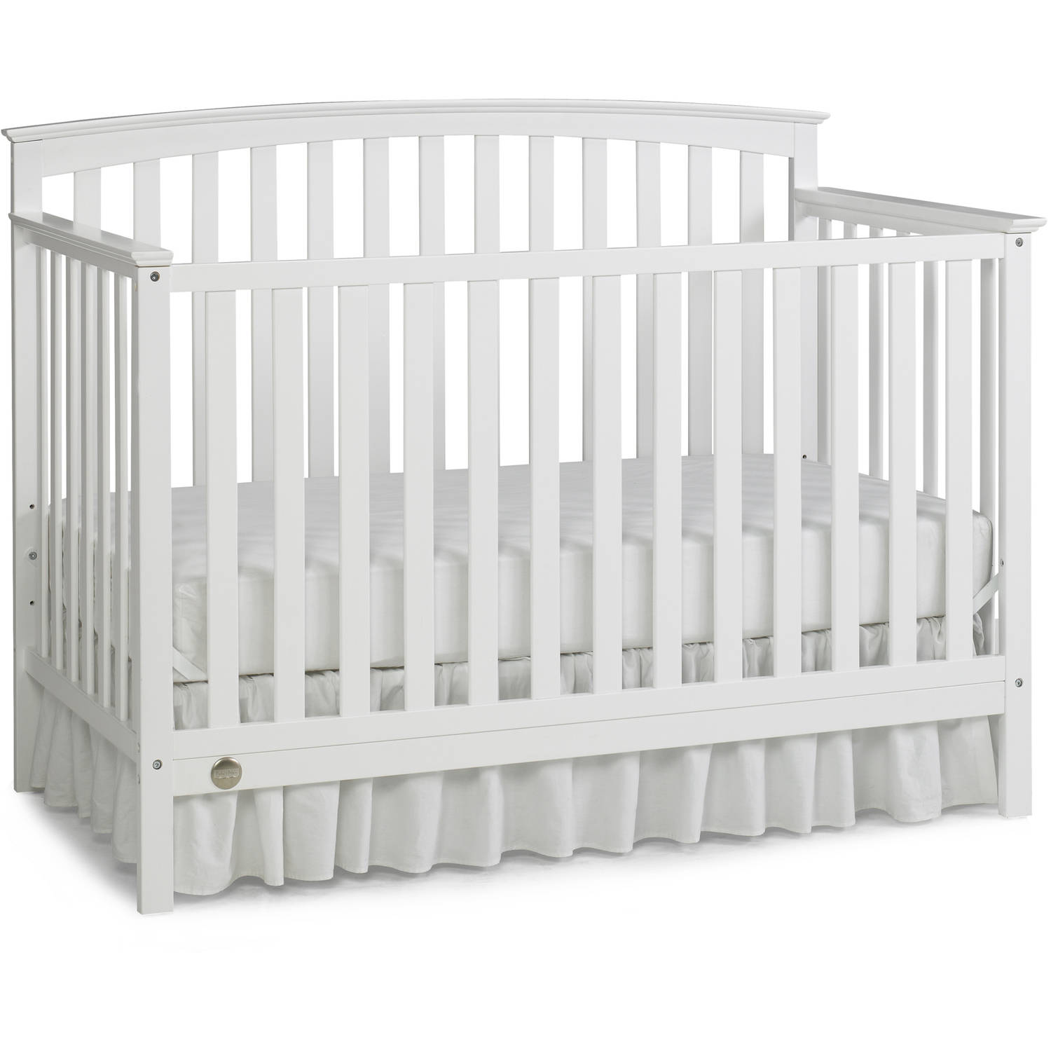 Fisher-Price Jesse 4-in-1 Convertible Crib, Snow White