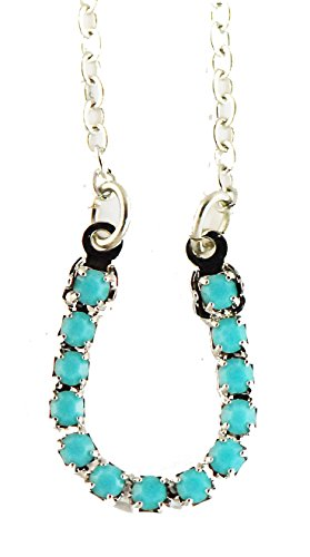 Finishing touch Faux turquoise horseshoe necklace, imitation rhodium finish by The Finishing Touch of Kentuucky