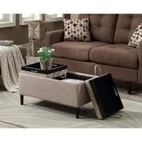 Groovy Storage Ottomans Walmart Com Inzonedesignstudio Interior Chair Design Inzonedesignstudiocom