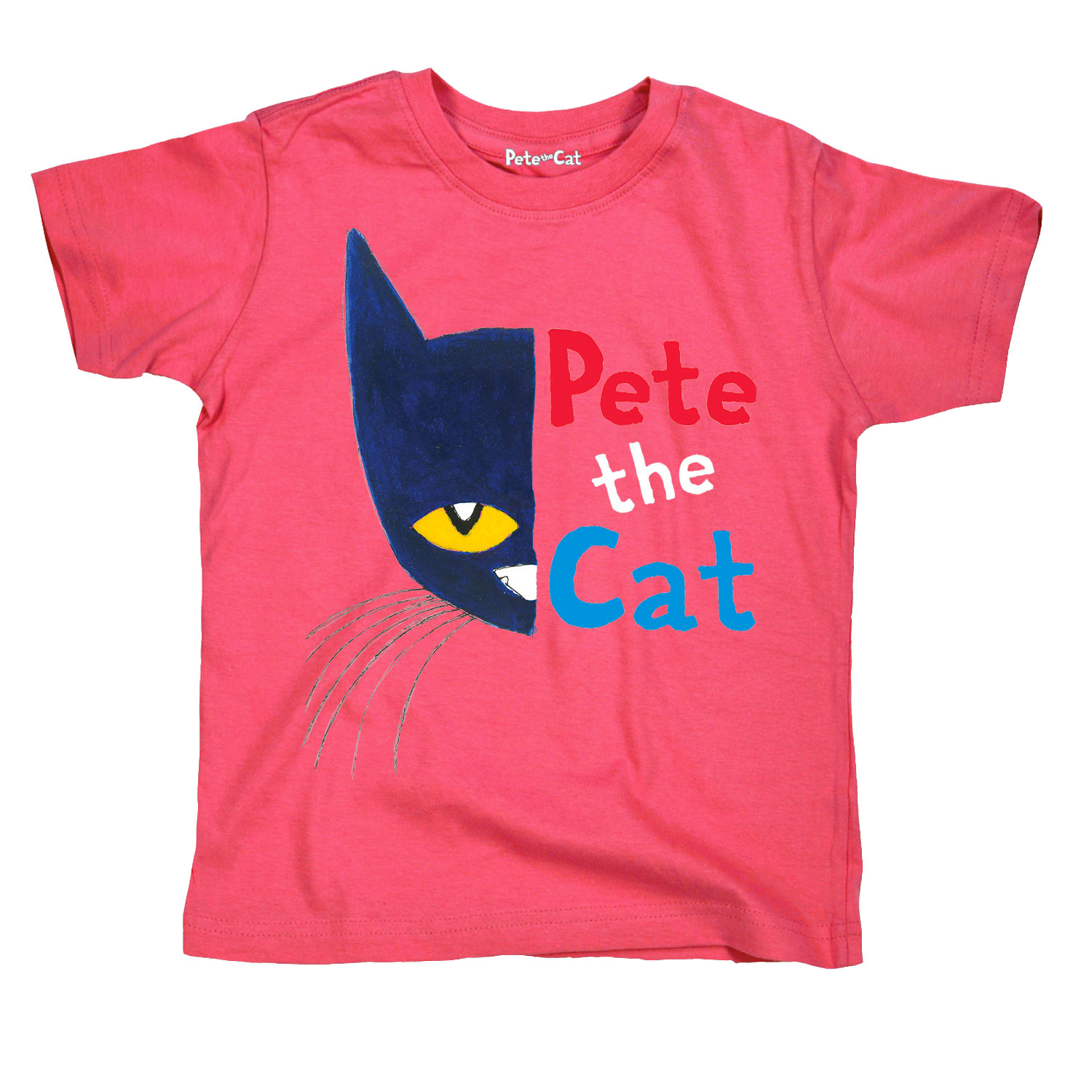 Pete the Cat  Licensed Book Character Half Face Portrait Toddler Tee