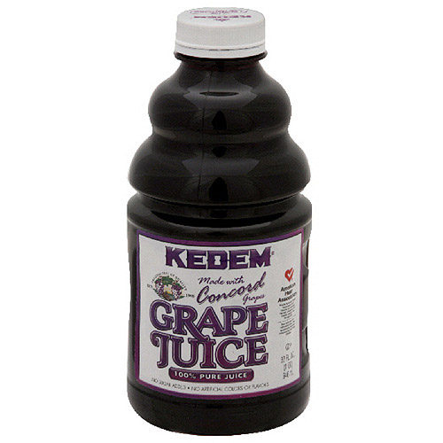 Kedem 100% Fruit Juice, Grape , 32 Fl Oz, 12 Count