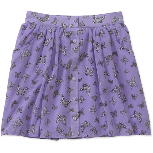 Besties Girls' Chiffon Skirt with Pockets