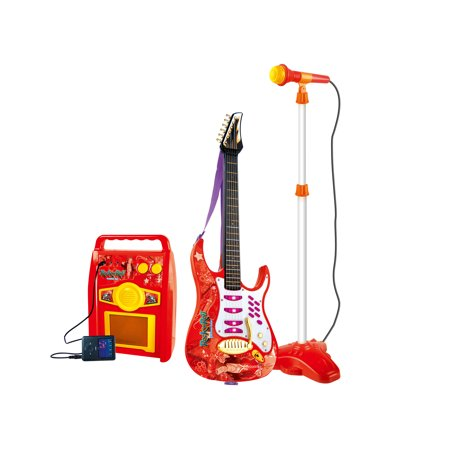lightahead kids electric guitar play set with amplifier speaker microphone and mp3. Black Bedroom Furniture Sets. Home Design Ideas