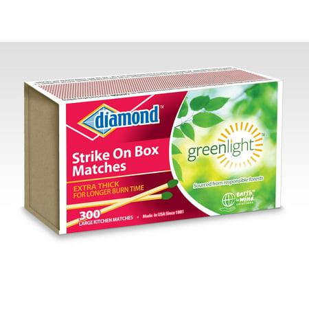 Diamond Strike On Box Single Matches  300 Ct