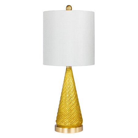 Cory Martin Royal Spiraled Cone Glass and Metal Table Lamp