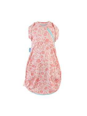 Tommee Tippee Newborn Grosnug Swaddle Sleeping Bag, Wild Posy - Light, 0-3m, Small