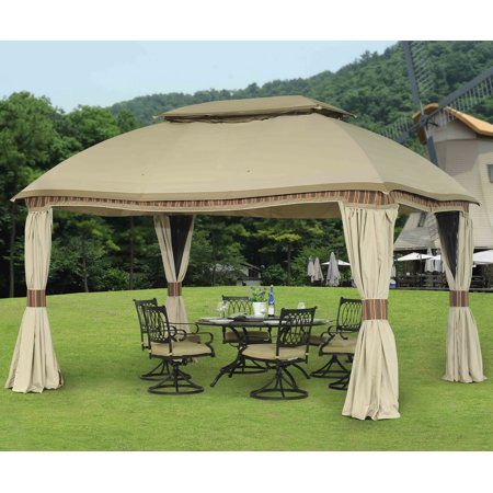 Sunjoy Replacement Curtain for L-GZ822PCO 10X13 Domed Gazebo
