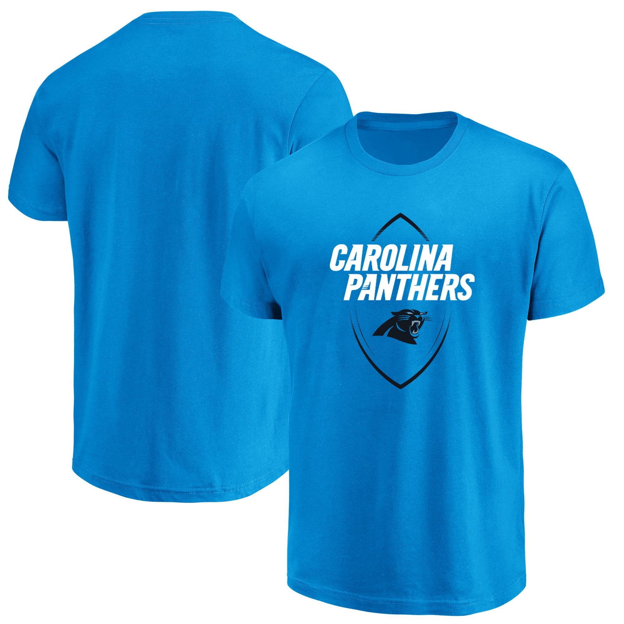 Carolina Panthers Majestic Maximized Crew Neck T-Shirt - Blue
