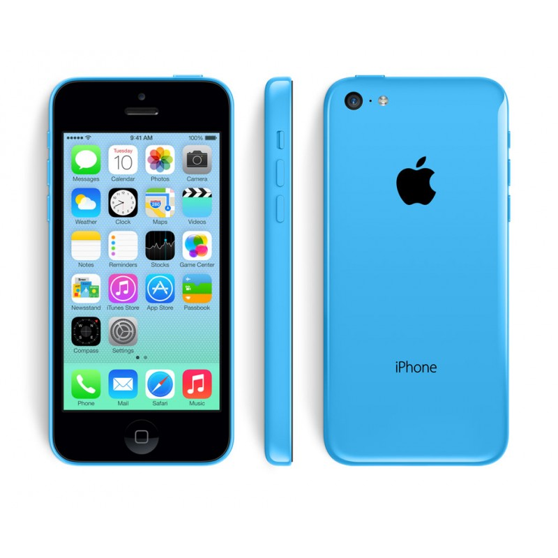 Apple iPhone 5C 16GB Blue LTE Cellular AT&T ME597LL/A