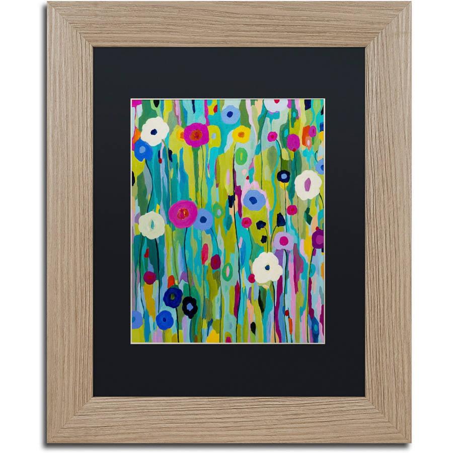 """Trademark Fine Art """"Verdant"""" Canvas Art by Carrie Schmitt, Black Matte, Birch Frame"""