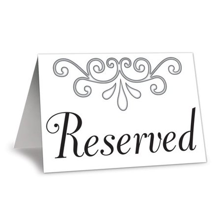 The Beistle Company Reserved Table Card (Set of 12) (Reserved Cards For Tables)