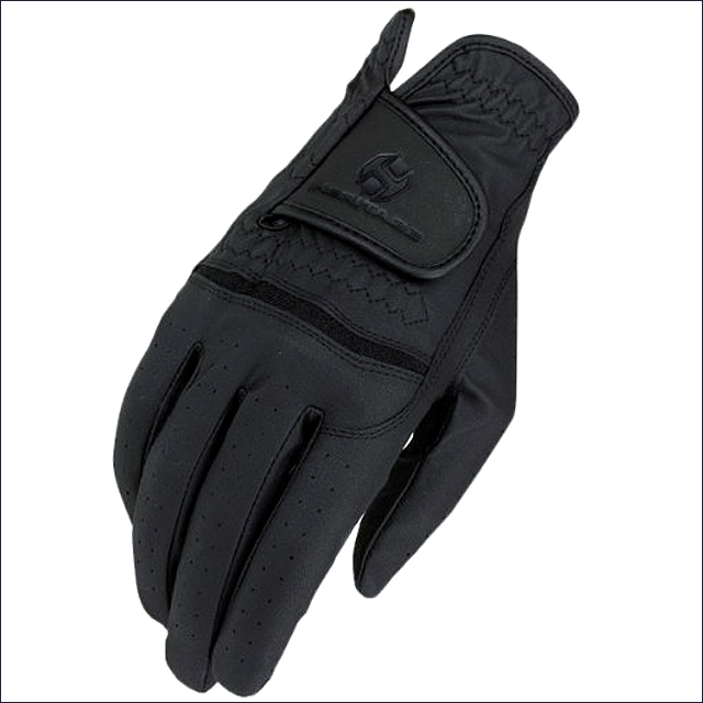SIZE 6 HERITAGE SYNTHETIC LEATHER PREMIER WINTER SHOW HORSE RIDING GLOVE BLACK by