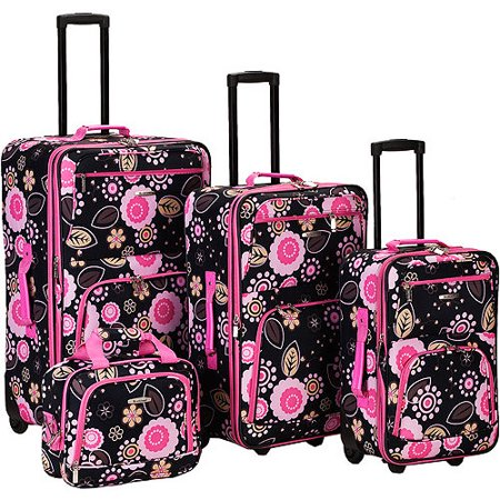 Rockland Luggage Impulse 4 Piece Expandable Luggage Set, Multiple Colors