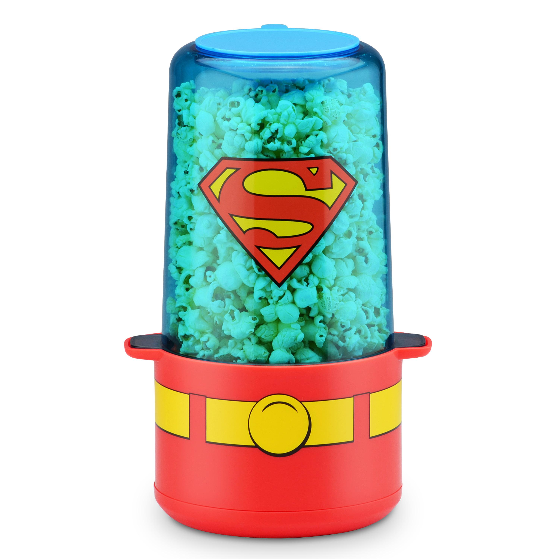 DC Superman Stir Popcorn Popper by Select Brands Inc.