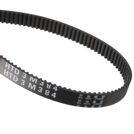 Unique Bargains HTD3M 128 Teeth Stepper Timing Belt Rubber Geared-Belt 384mm Perimeter 10mm Wide - image 1 de 1