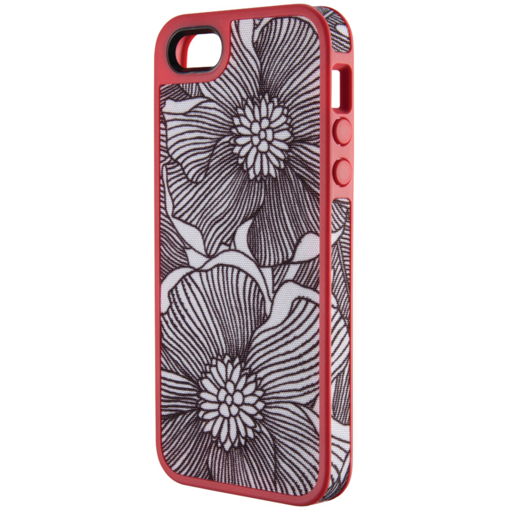 Speck Spk-a0764 Apple iPhone 5/5s Fabshell Case Freshbloom Coral Pink/Black