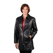 Reed® Women's Soft Lamb Skin Leather Coat (Medium)