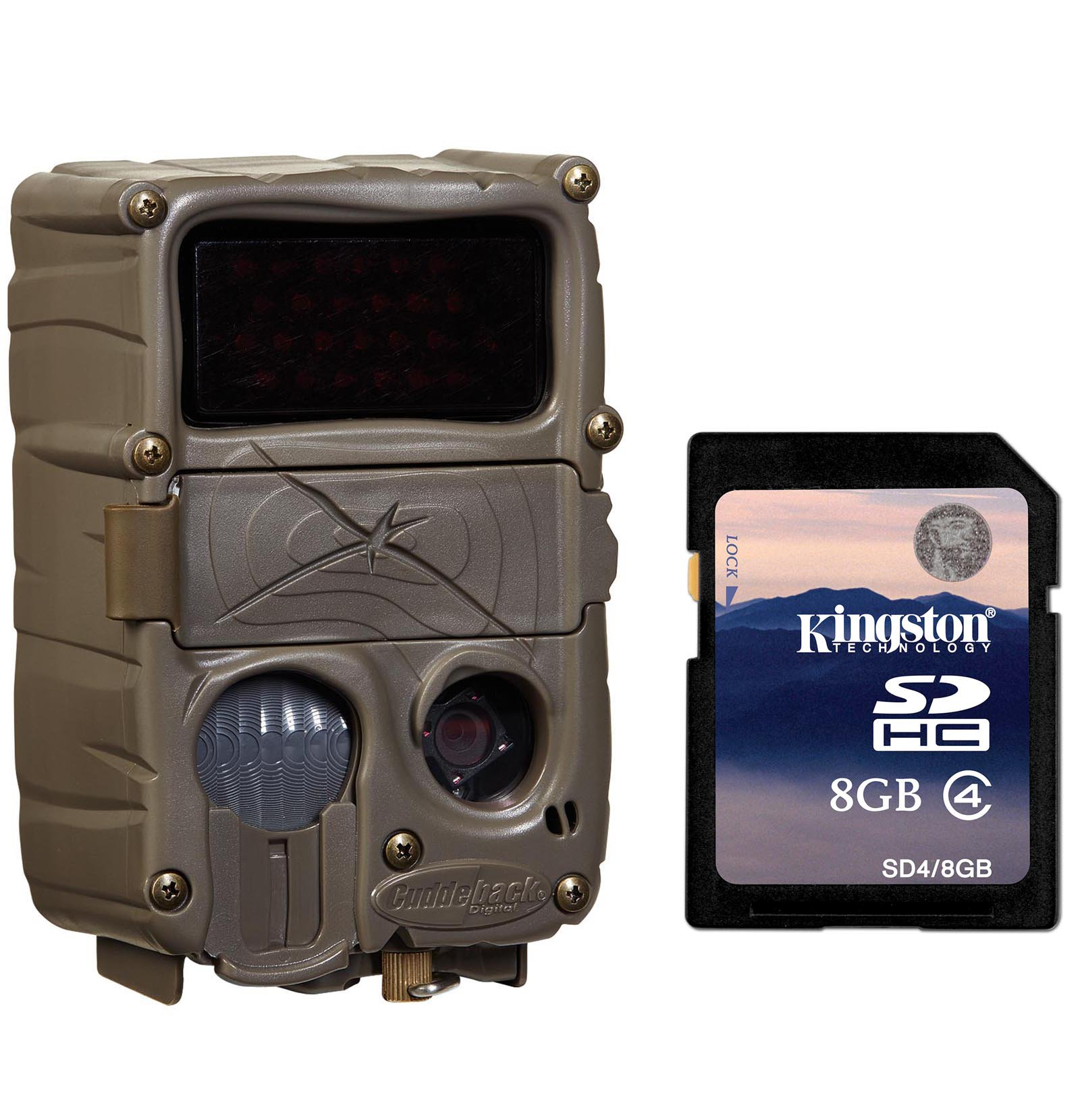 Cuddeback C3 No Glow 20MP Black Flash Xchange IR Trail Game Camera + 8GB SD Card by Cuddeback