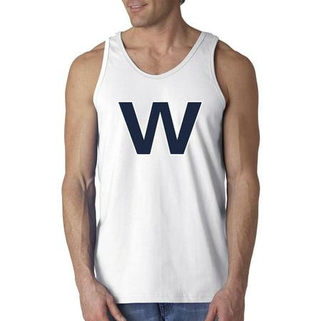New Way - New Way 637 - Men s Tank-Top Chicago Cubs Win